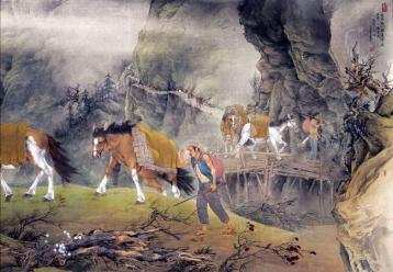 茶马古道国画|茶马古道图片素材