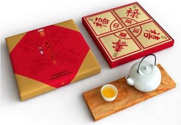 中茶牌普洱方茶:福禄寿喜(2015)