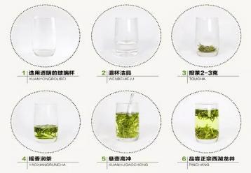 龙井茶玻璃杯冲泡图片