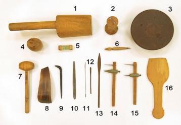 紫砂壶成型常用工具|紫砂壶制作工具