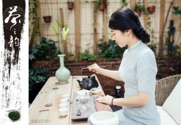茶艺美女图片 茶艺表演图片