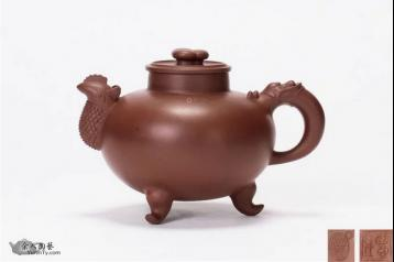 陈国良天鸡壶图片|紫砂壶鉴赏图
