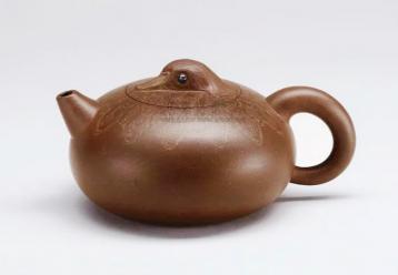吕尧臣鸳鸯壶欣赏|紫砂壶图片