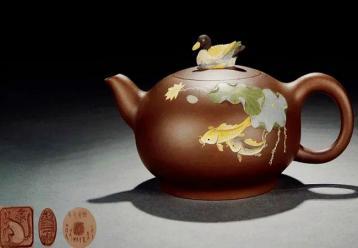 桑黎兵:泥绘鸳鸯壶图片