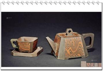 吕俊杰紫砂绞泥作品· 紫砂壶图片