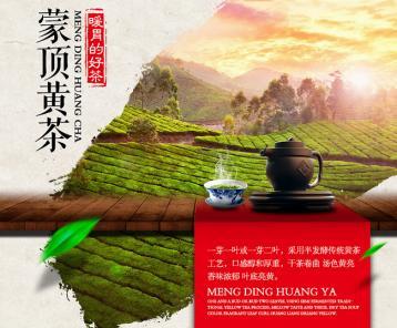 蒙顶黄芽黄茶宣传图
