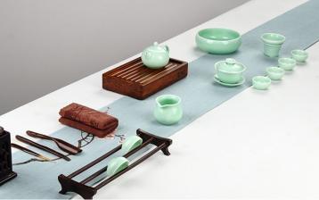 龙泉青瓷功夫茶具的选择