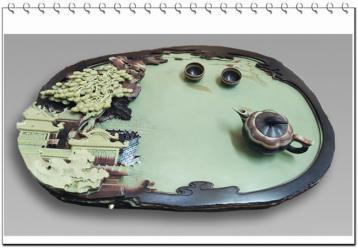 梵净山紫袍玉带石茶盘|紫袍玉石茶盘图片