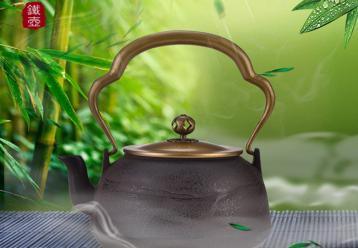日本手工烧水铁茶壶|日本铁壶图片
