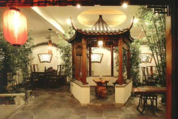 中式古典风格茶楼在庭院布局中造景技巧