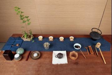 茶席文案设计图|茶席布
