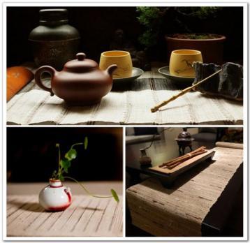 茶席设计摄影图|茶席意境图