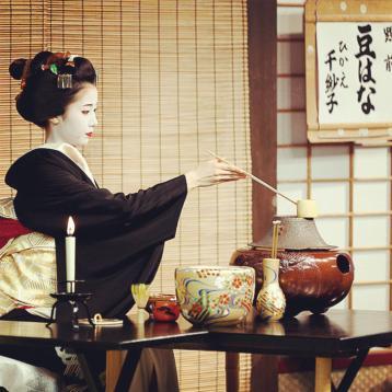 日本茶道图欣赏|传统茶道