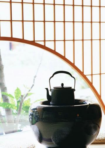 煎茶茶壶 煎茶意境图摄影